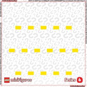 LEGO Minifigures Series 6 Background for Ikea Ribba Frame
