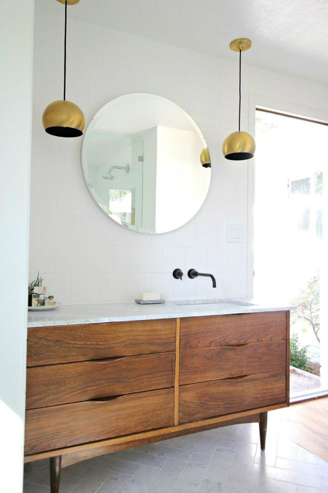 Round Mirrors  | Home Design Ideas: seven steps to the perfect bathroom design - see more at http://www.homedesignideas.eu/home-design-ideas-seven-steps-perfect-bathroom-design/