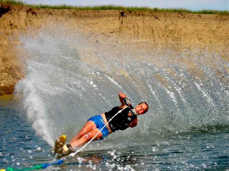Lake Diefenbaker, Saskatchewan. Tearin' up the Lake!
