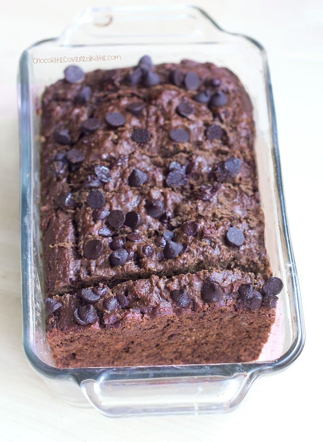 Fudgy banana bread is the perfect healthy sweet treat you can eat any time of the day. Get the recipe from Chocolate Covered Katie.   - Delish.com