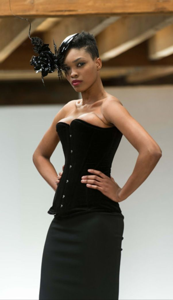 "Vollers Corset ""Daydream"" In Velvet as seen on The Face UK"