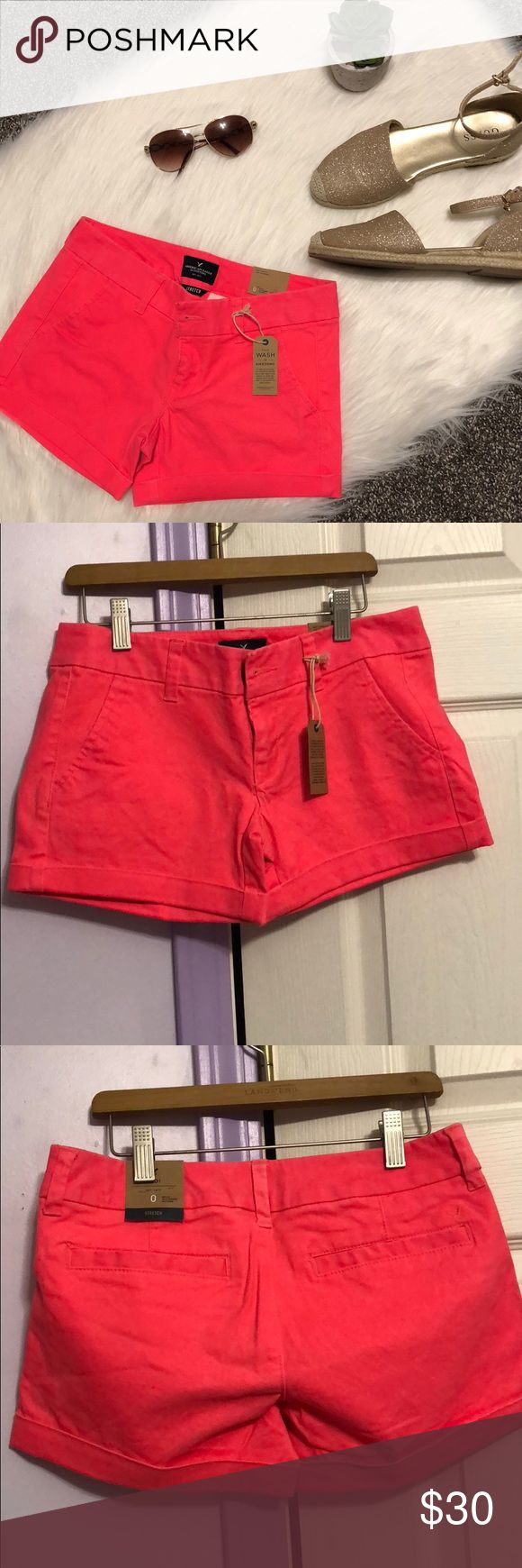 AE neon shorts NWT midi length, stretchy, open to reasonable offers, no trades🎀 bundle for discount American Eagle Outfitters Shorts