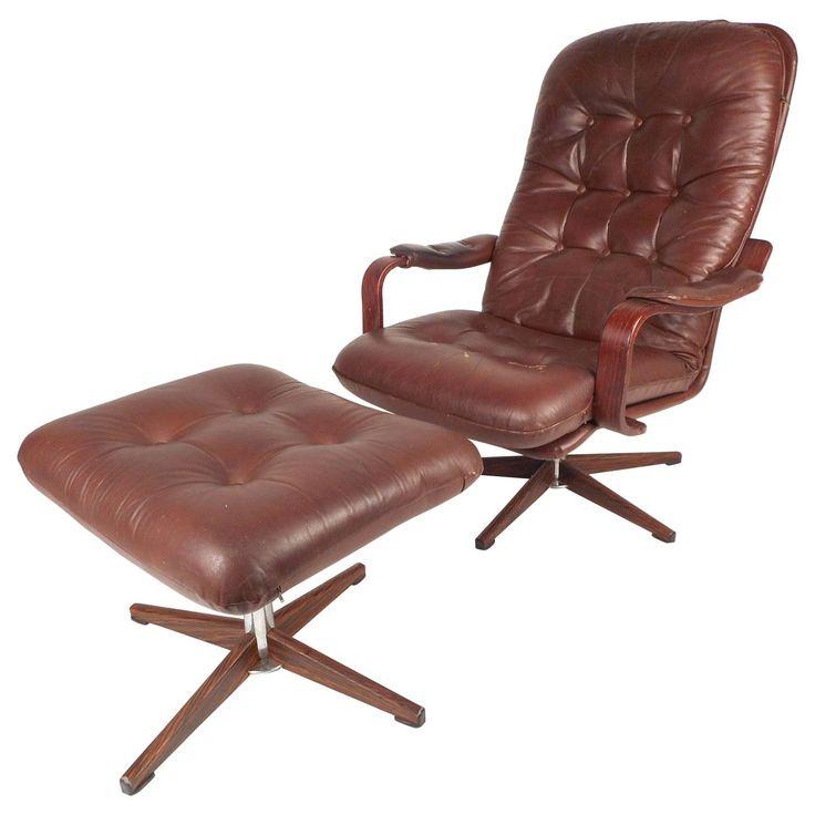 Designer Leder Sessel Und Hocker Eames Lounge Chair