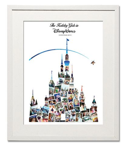 *NEW* Magical Disney Castle Photo Collage - Treasure on the Wall.... A Beautiful way to bring together your greatest memories of Disneyland.
