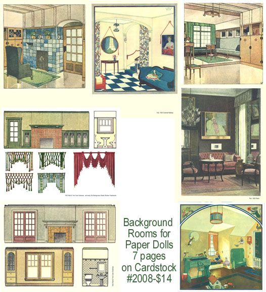 Backgrounds For Paper Dolls 1920s Coverstock Paperdolls