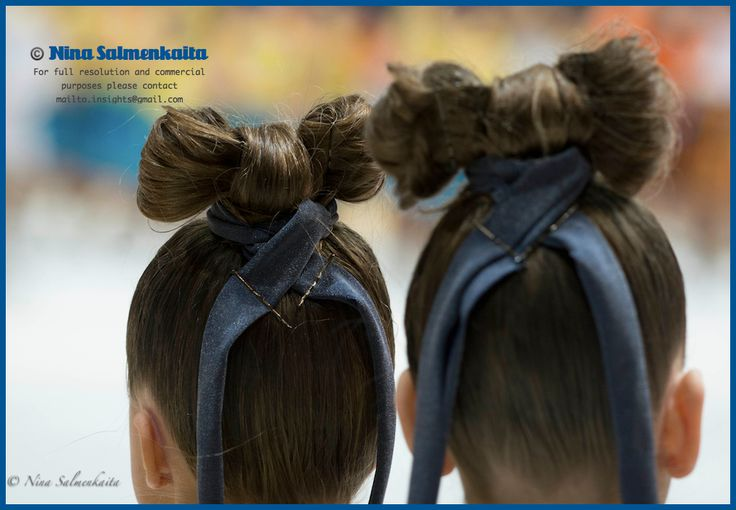 Cool hairdos - Valley Bay Synchrokids (preliminary level) FIN at a competition January 2014