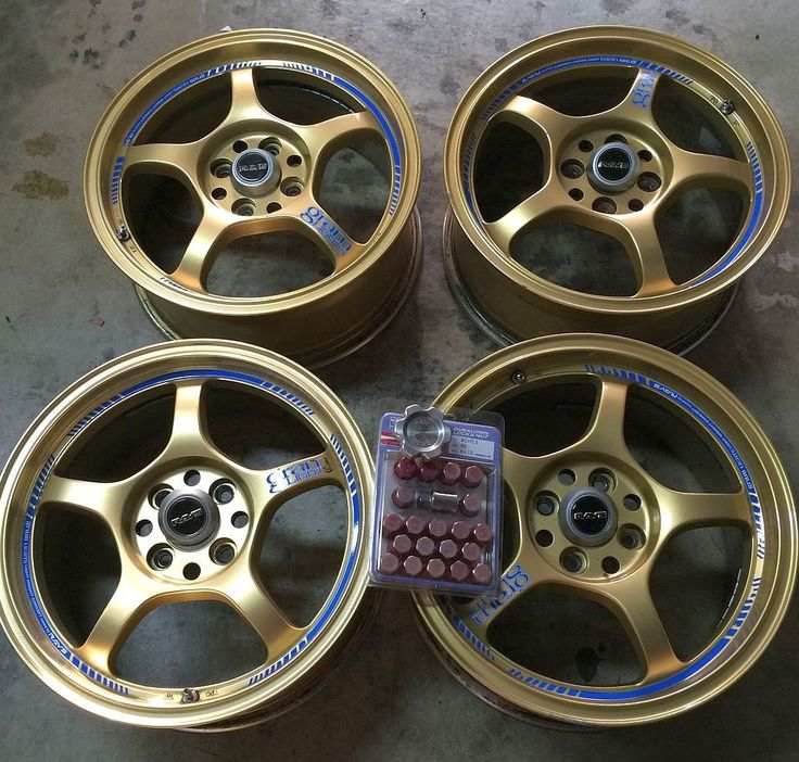 Gram Lights Wheels (Pre-owned 16 Inch 57C Gold Rims, Rays