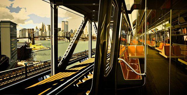 Richard Estes - D Train, 1988 at American Art Museum Washington DC | Flickr – Compartilhamento de fotos!