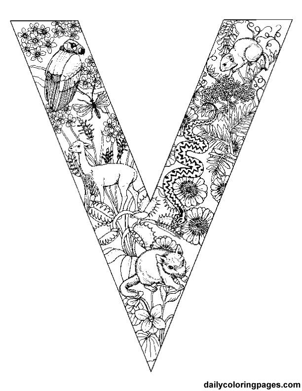 Alphabet Animal Coloring Pages V In This Page You Can Find Free Printable Lot Of Collection