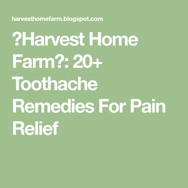 ♥Harvest Home Farm♥: 20+ Toothache Remedies For Pain Relief