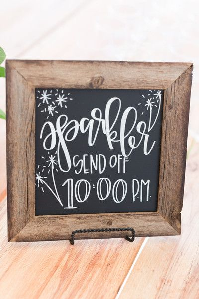 Sparkler Send Off Chalkboard by Chalkfulloflove