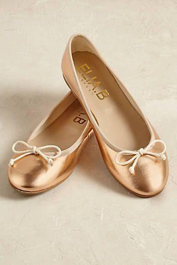 Stefania Metallic Ballet Pumps