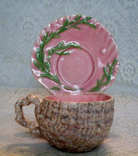 Vintage Seashell Teacup And Saucer beach ocean by Sheekydoodle, $18.00