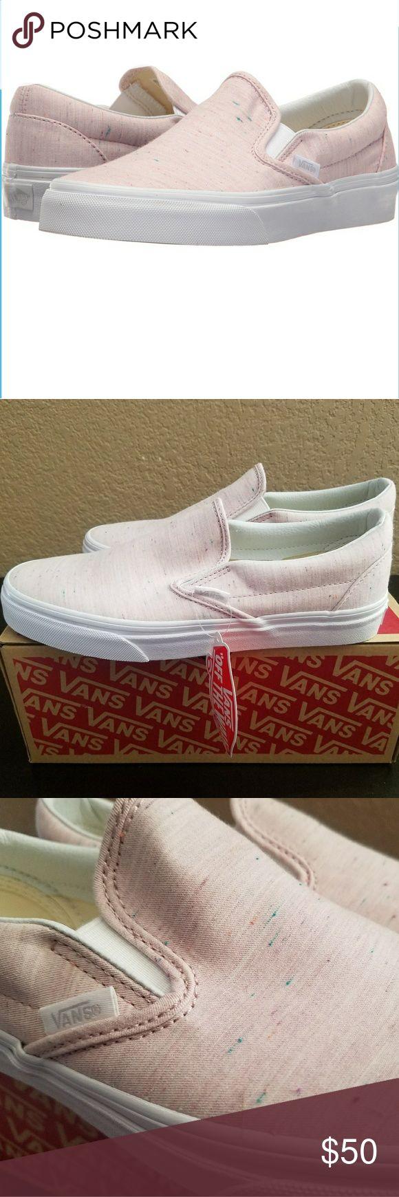 Vans Classic Slip On Jersey Pink Classic Slip On women's jersey pink Vans Shoes Sneakers