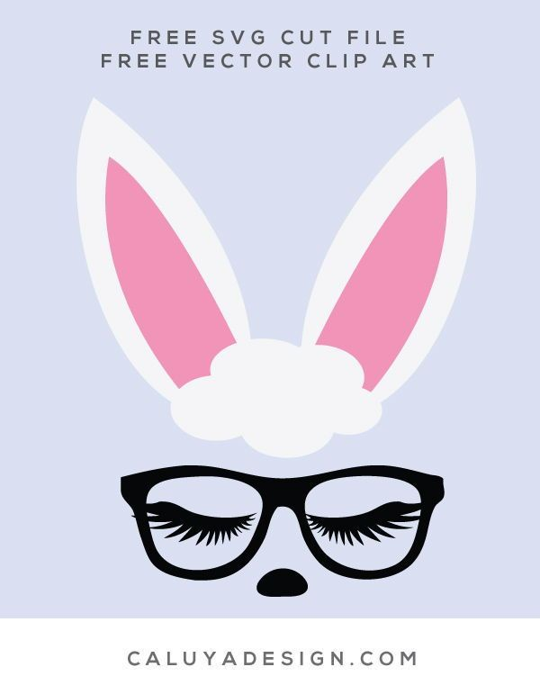 44e7b1cdfb1 FREE easter bunny SVG cut file