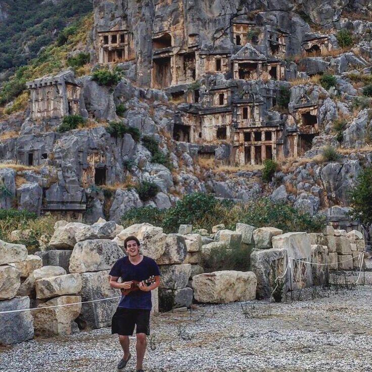 Rock tombs in Myra  Turkey  Destinations