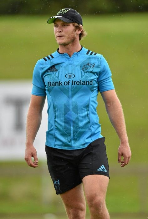 10 August 2015; Munster's Tyler Bleyendaal during squad training. Munster Rugby Squad Training. University of Limerick, Limerick. Picture credit: Matt Browne / SPORTSFILE