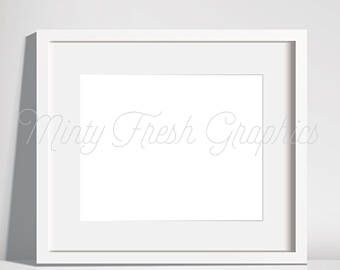 Frame Mockup White Picture Frame Empty Frame Poster Mock Up Horizontal Landscape Vector Eps Instant Download Frame Mockup Templates Frame Mockup White Picture Frames