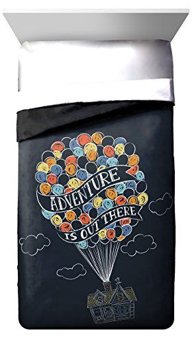 """Product review for Disney/Pixar Up Balloon Travel """"Adventure is Out There"""" Twin/Full Reversible Comforter, Dark Blue/Black.  - Transform any child's bedroom with a bold and colorful Disney/Pixar Up reversible twin/full comforter. Sure to keep you warm, this reversible comforter is stuffed with polyester fill for loft and cozy comfort. Quilt stitching holds durable polyster fill in place and adds decorative flair.....  Continue reading at  https://www.bestselleroutlet.n"""