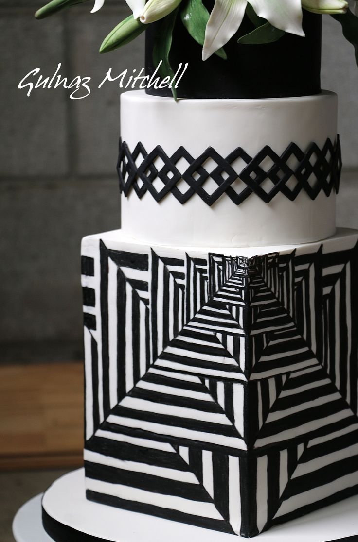 Consider going geometric and wowing all of your guests with a cake like this one by Gunlaz Mitchell Cake Design