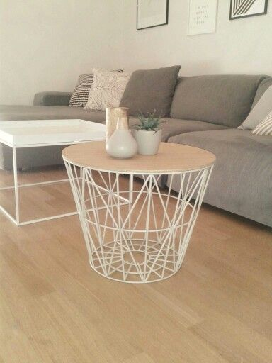 Ferm living basket as coffee table