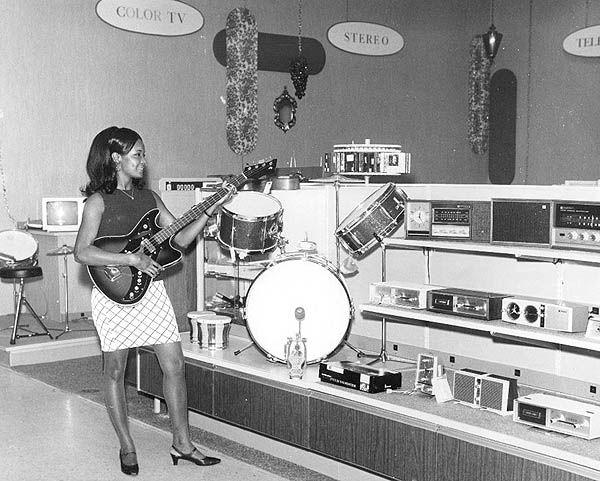 susiesnapshot:J.C. Penney's electronics department, 1968.