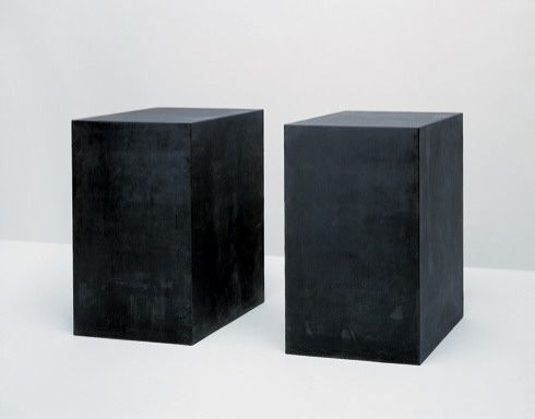 Tony Smith - For W.A., 1969. Welded bronze with black patina, two units, edition 1/6, 60 x 33 x 33 inches (152 x 83.3 x 83.3cm) each. Solomon R. Guggenheim Museum, New York,Purchased with the aid of funds from the National Endowment for the Arts in Washington, D.C., a federal agency; matching funds contributed by the Junior Associates Committee