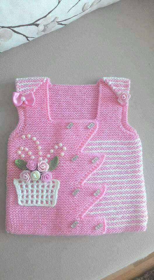 "HUZUR SOKAĞI (Yaşamaya Değer Hobiler) [   ""gorgeous baby vest: pink with a basket of flowers"",   ""Nice idea for embellishments"" ] #<br/> # #Baby #Vest,<br/> # #Basket #Of #Flowers,<br/> # #Knitting,<br/> # #Embellishments,<br/> # #So #Cute,<br/> # #Baskets,<br/> # #Tissue<br/>"