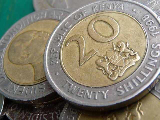 """Kenyan Shillings (20 Bob) the kids would chase us saying """"give me a shilling"""" :) miss africa"""