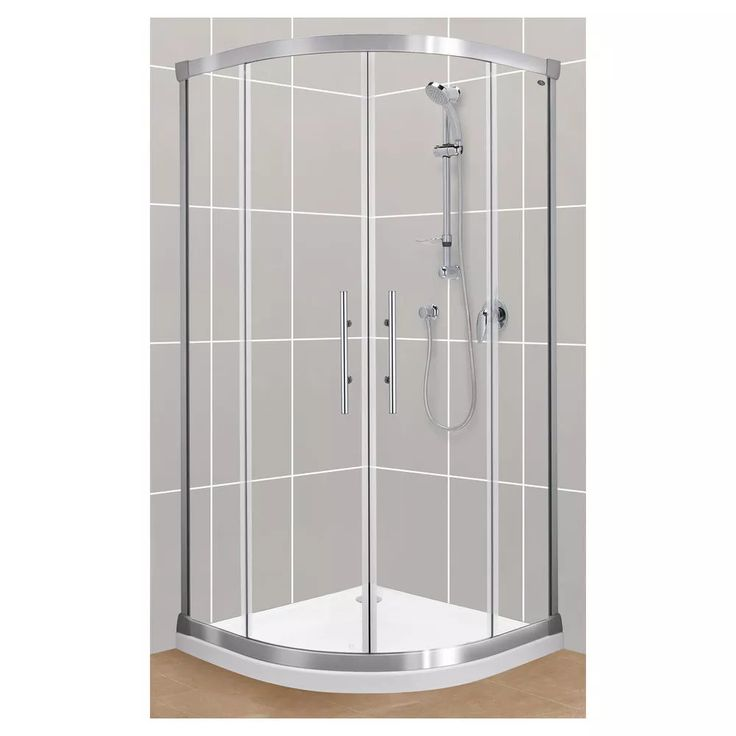 Englefield Round Valencia Sliding Shower Screen 900x900mm - Masters Home Improvement