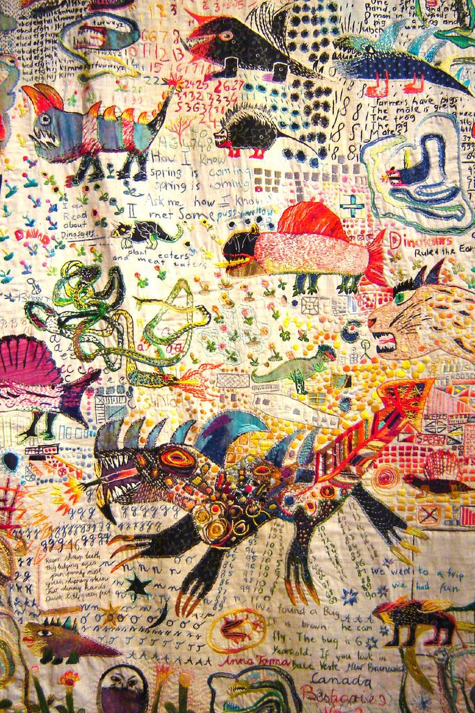 """♒ Enchanting Embroidery ♒  Anna Torma, embroidered quilt detail, """"Just My Imagination"""", Calgary, AB"""