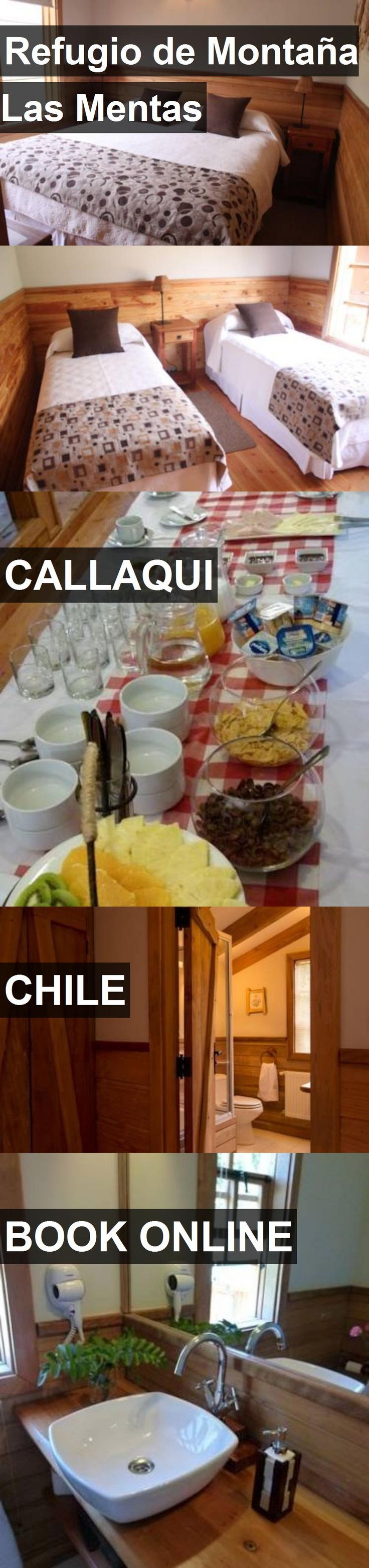 Hotel Refugio de Montaña Las Mentas in Callaqui, Chile. For more information, photos, reviews and best prices please follow the link. #Chile #Callaqui #travel #vacation #hotel
