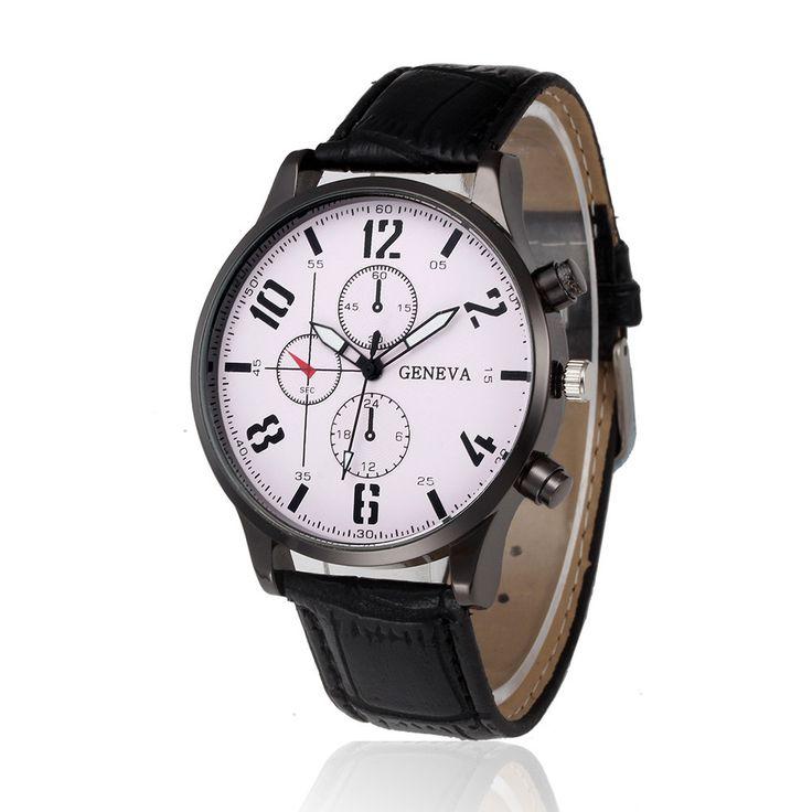 Retro Design Leather Band Alloy Quartz Wrist Watch Women Mens Watches Top Brand Luxury Relogio Masculino Digital Business saat