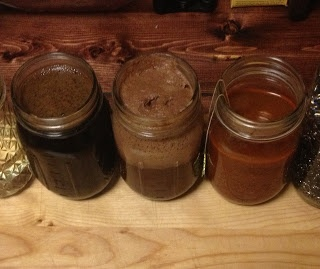 Recipes, Tutorial & Test Examples for 4 different homemade Wood Stains you can make in 5 minutes:  Hot Chocolate, Coffee, Tomato Sauce & Red Wine (GREAT info, tips & links here!!)