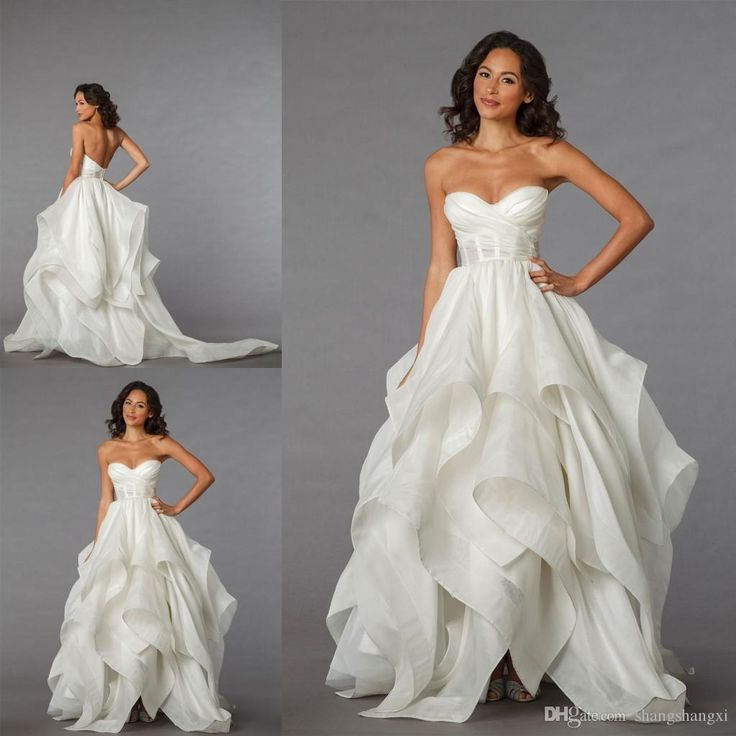 2015 Wedding Dresses Pnina Tornai Collection Vintage A Line Sweetheart with Sheer Waist Low Lace Up Back Drapped Brush Train Bridal Gowns Online with $163.1/Piece on Shangshangxi's Store | DHgate.com