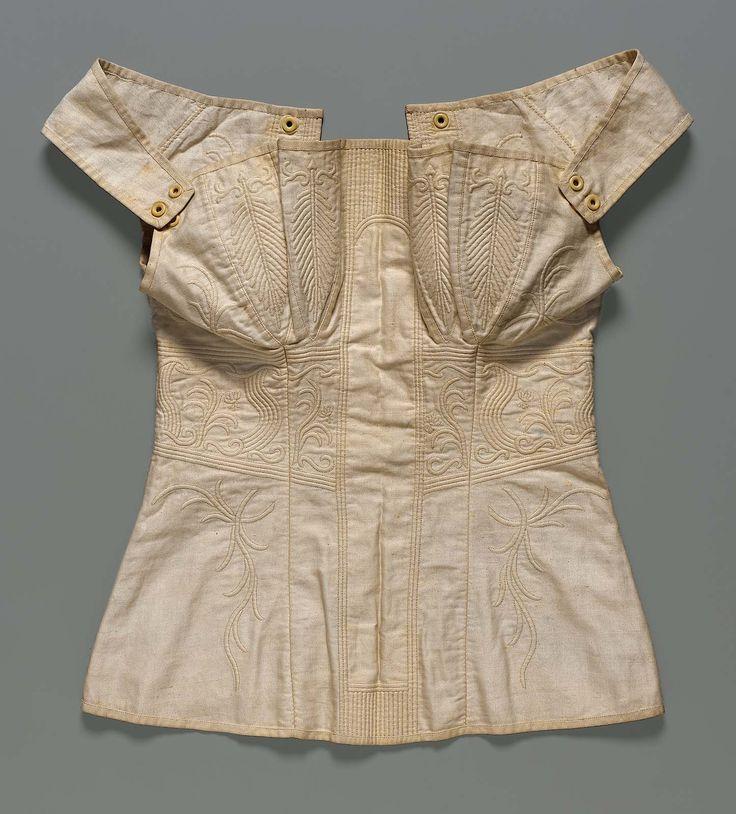 Cotton corset, American c1800-1850. Museum of Fine Arts, Boston