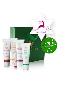 Geschenk-Set »Weihnachtszauber« - beinhaltet die Heat Lotion, Aloe Propolis Creme, Aloe Moisturizing Lotion, Aloe Vera Gelly und einen Aloe Lips.