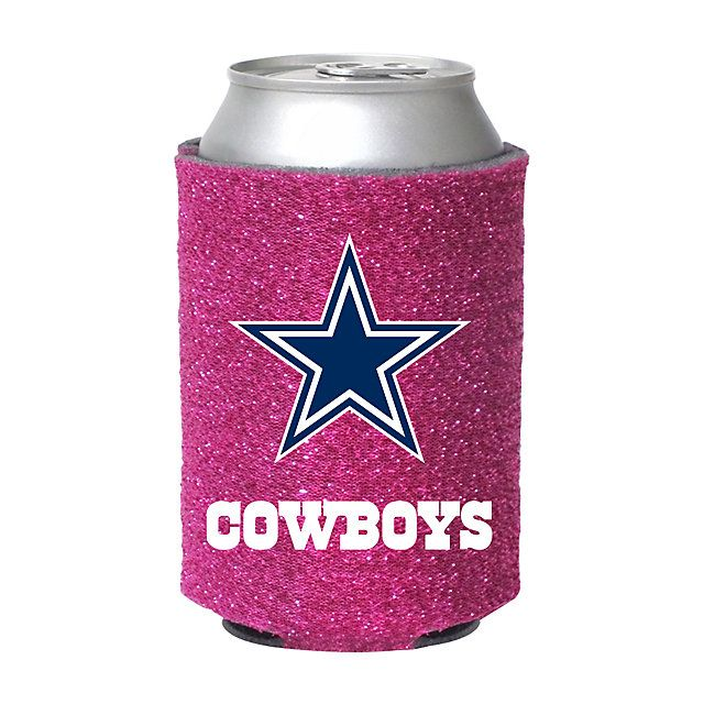 Grab your Dallas Cowboys Pink Glitter Coolie today at shop.dallascowboys.com!