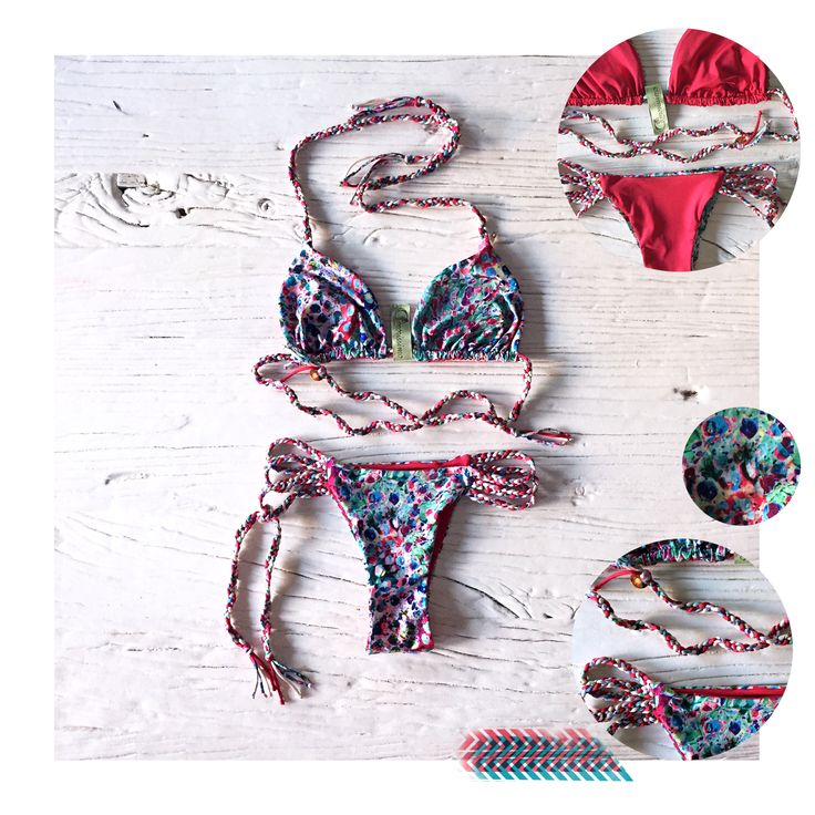 Amorissimo bikini miriam jungle red gipsy style made in italy buy at http://www.amorissimo.net/shop/swimwear/myriam-melange