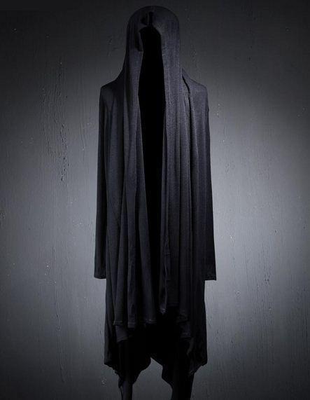 New Men gothic stylish long coat outwear asymmetric hooded cloak #other #BasicCoat