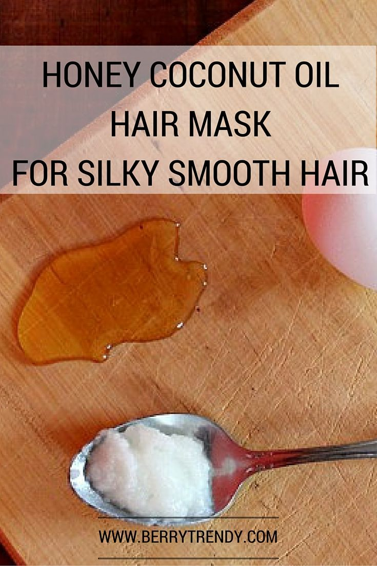 Honey Coconut Oil Hair Mask for Sily Smooth Hair DIY