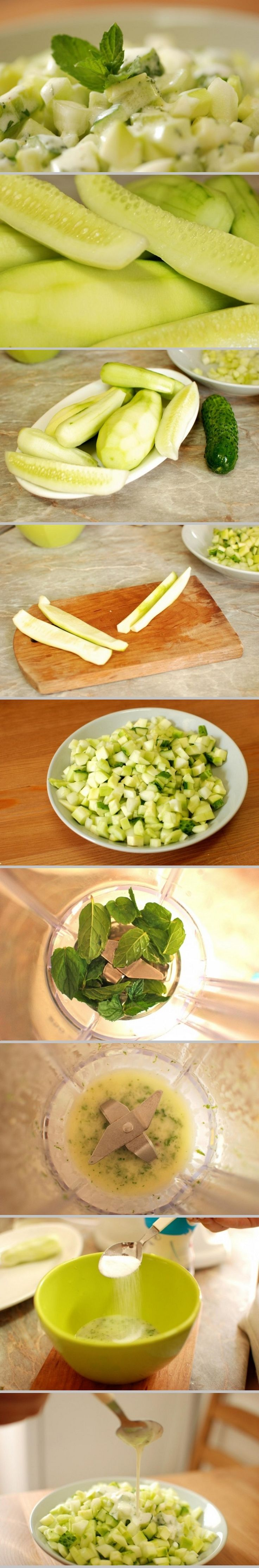 Cucumber Salad with Yogurt Sauce Recipe Desserts Salad, Yogurt Sauces ...