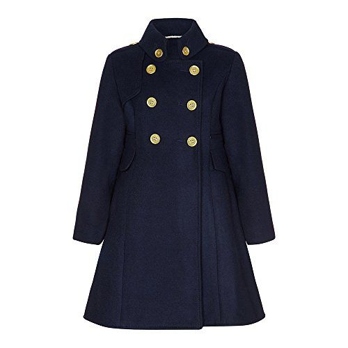 Anastasia - Girl's Navy Double Breasted Military Coat Size 5-6 Years Anastasia http://www.amazon.co.uk/dp/B00SBPSJKE/ref=cm_sw_r_pi_dp_UWbGvb110GGNG