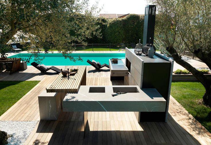 La cucina da esterno componibile e modulare di Modulnova - Elle Decor Italia