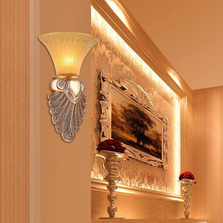 Estilo romano antiguo lámpara de pared de Baño espejo de la vendimia Luz Led retro lámpara de pared cortina De Cristal Aplique de Pared Dormitorio E14 Arandela