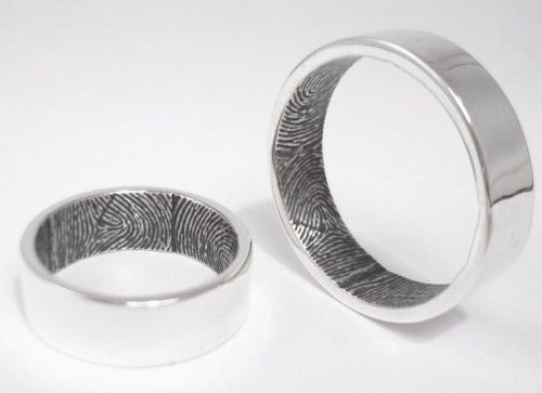 Wedding Rings with your husband's or wife's fingerprints - creepy or romantic?
