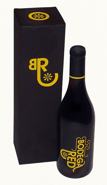 Bodega Red #bottle and #box for all our #wine loving #packaging peeps PD