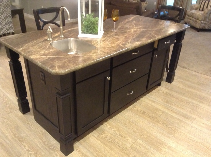 1000 images about legacy crafted cabinets on pinterest - Kitchen island with cooktop and prep sink ...