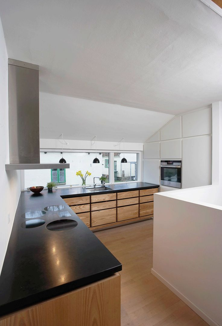 wow garde hvalse handmade kitchen minimal with cabinets in oiled elm and with countertops