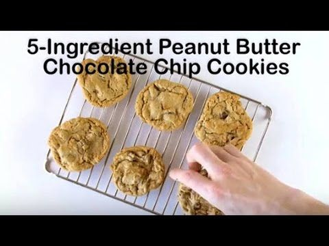 5-Ingredient Peanut Butter Chocolate Chip Cookies recipe - from Tablespoon!